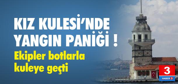KIZ KULESİ'NDE YANGIN PANİĞİ !
