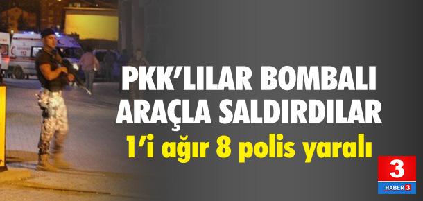 PKK'lılar bombalı araçla saldırdı !