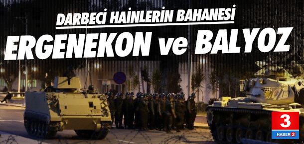 Bahaneleri Ergenekon ve Balyoz davaları !