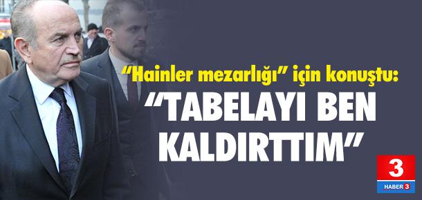 """Kadir Topbaş'dan """"Hainler Mezarlığı"""" açıklaması"""