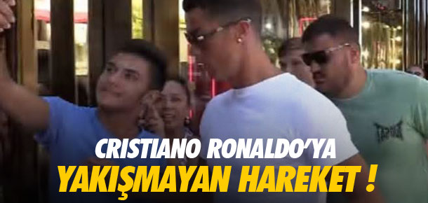 Cristiano Ronaldo'dan şok hareket !
