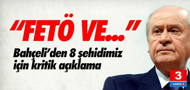 Bahçeli: ''FETÖ ile PKK birdir''