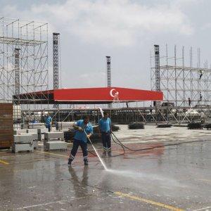 Yenikapı'daki mitinge 3 milyon kişi bekleniyor