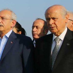 Kılıçdaroğlu ve Bahçeli son fotoğraf için kürsüye çıkmadı