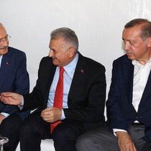 Erdoğan ve Kılıçdaroğlu ''kolej'' havasında