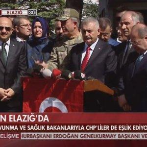 Başbakan Elazığ'da açıkladı: 3 şehit, 217 yaralımız var