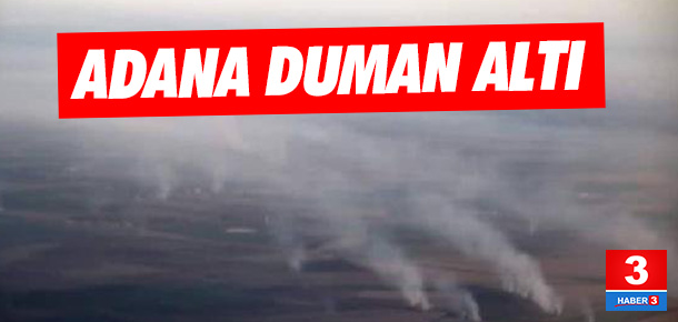 Adana, anız dumanı altında kaldı