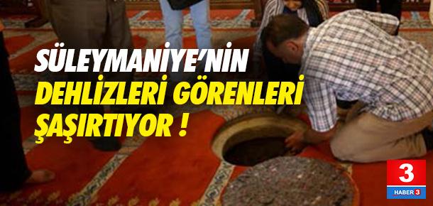 Süleymaniye Camisi'nin dehlizleri şaşırtıyor