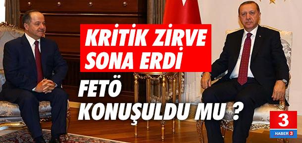 Erdoğan Barzani'yi kabul etti