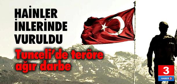 Tunceli'de PKK'lı 3 terörist öldürüldü