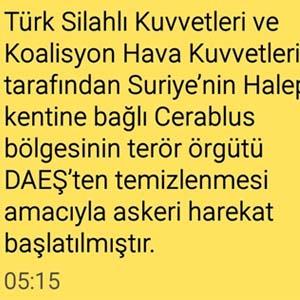 Türkiye sınır ötesi operasyonu bu mesajla öğrendi