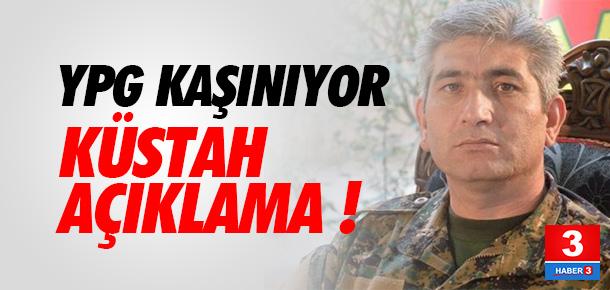 YPG'den küstah açıklama
