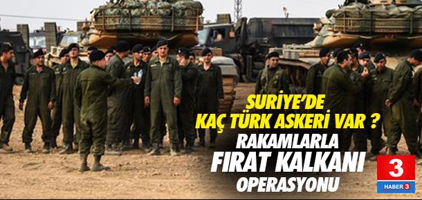 Suriye'de kaç Türk askeri var ?