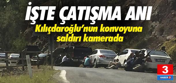 CHP konvoyuna saldırı anı ! Çatışma kameraya yansıdı