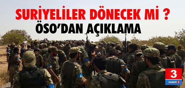 ÖSO Türkiye'nin destek sözü verdiğini açıkladı