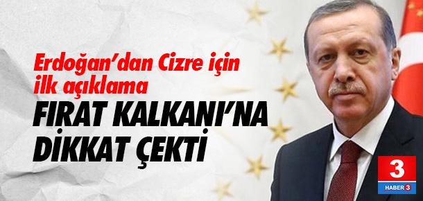 Erdoğan'dan Cizre açıklaması
