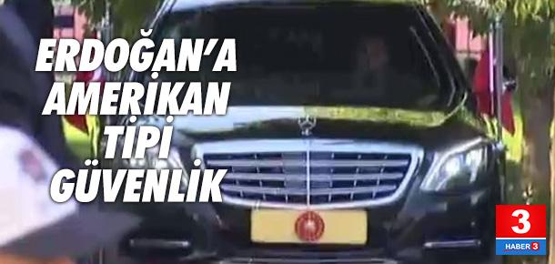 Cumhurbaşkanı Erdoğan'a ikiz makam araçlı önlem