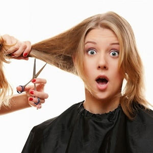 Saçları kesmek gürleştirmiyor