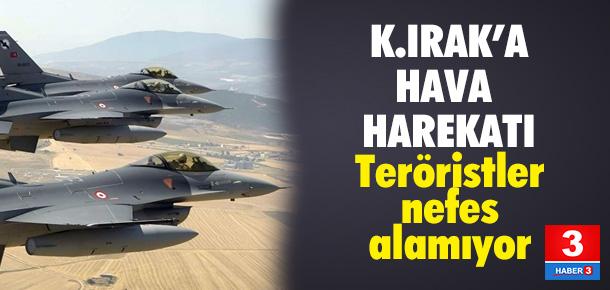 Irak'ın kuzeyindeki terör yuvaları vuruldu
