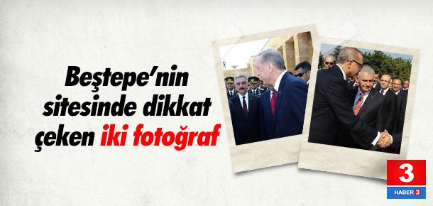Beştepe'nin sitesinde dikkat çeken iki fotoğraf