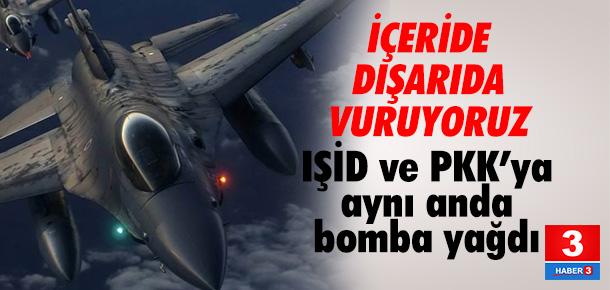 Türk jetleri yurtiçi ve dışındaki terör yuvalarını vurdu