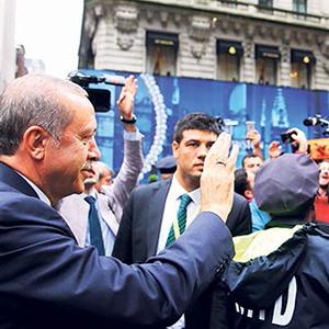 New York'ta Erdoğan'a coşkulu karşılama