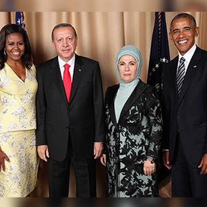 Obama ve Erdoğan çifti aile fotoğrafı çektirdi