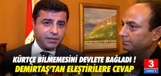 Demirtaş'tan 'Kürtçe' eleştirilerine yanıt