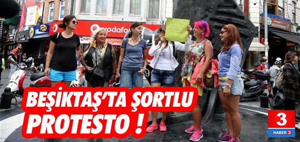 Beşiktaş'ta şortlu protesto