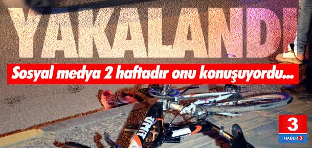Bisikletli gence çarpıp kaçan zanlı yakalandı