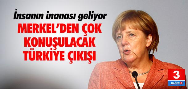 Merkel'den çok konuşulacak Türkiye çıkışı