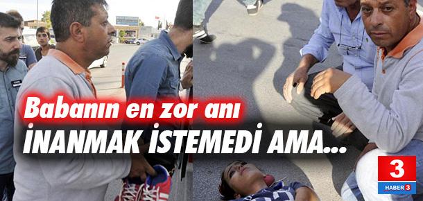 Kazada yaralanan kişinin kızı olduğunu gören baba şok yaşadı