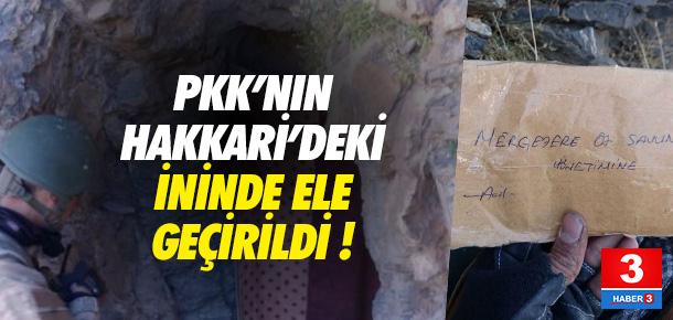 PKK'nın tünellerine girildi