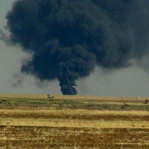 Petrol arama sahasında patlama !