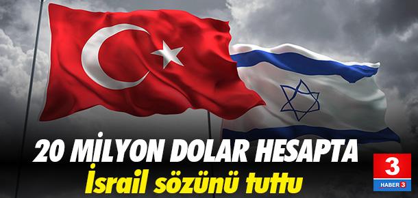 İSRAİL, TÜRKİYE'YE 20 MİLYON DOLAR ÖDEDİ
