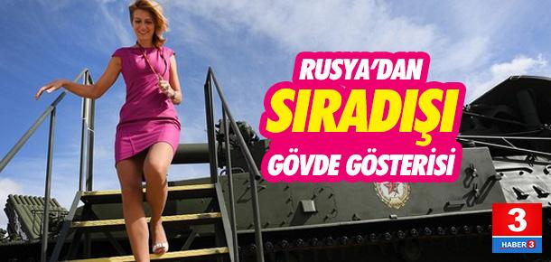 Rusya askeri teknolojisini sergiledi