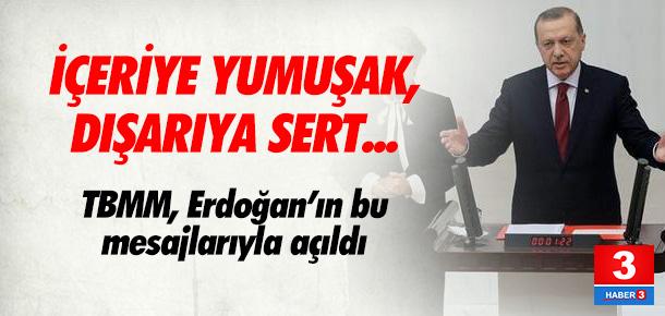 Tatil bitti, TBMM Erdoğan'ın bu mesajıyla açıldı