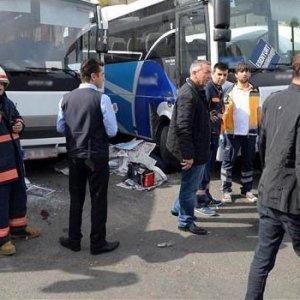 Otogarda inanılmaz kaza; 1 ölü 2 yaralı