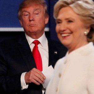 Clinton ile Trump son kez kozlarını paylaştı