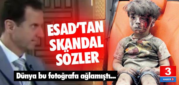 Esad, küçük Ümran'ın fotoğrafı için sahte dedi