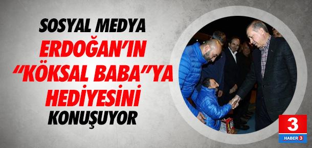 Erdoğan'dan Köksal Baba'ya oyuncak araba