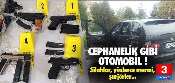 Sınır kapısında suikast silahları yakalandı