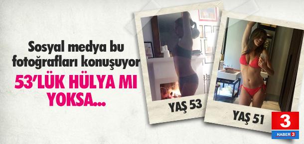 Hülya Avşar'ın iç çamaşırlı pozuna rakip çıktı