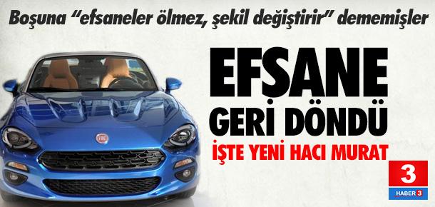 Murat 124'ün yeni kasası 124 Spider Türkiye'de