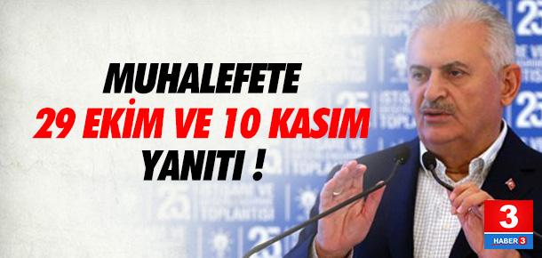 Başbakan Binali Yıldırım'dan 29 Ekim yanıtı