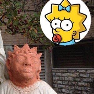 Restore edilen İsa heykeli 'Maggie Simpson'a benzetildi