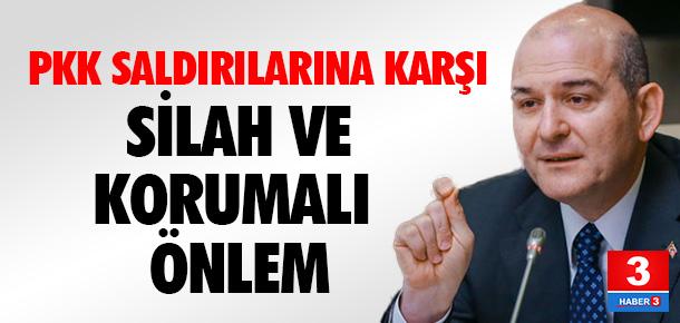 PKK saldırılarına karşı silah ve korumalı önlem