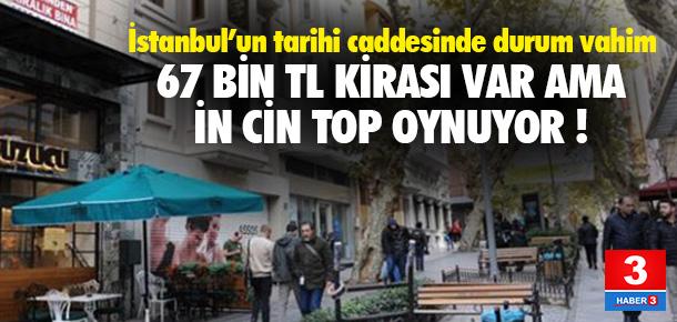 İstanbul'un tarihi caddesinde durum vahim !