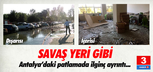 Antalya Ticaret ve Sanayi Odası'ndaki patlamadan ilk görüntüler