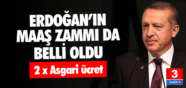 Erdoğan'ın maaşına 2.652 TL zam